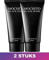 Mochito Peel Off Black Mask - Natuurlijke Ingrediënten - 50 ml - 2 Stuks