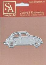 Simple Art snij en embossingmal met als thema voertuigen snijmal volkswagen kever