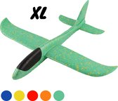 Zweefvliegtuig wegwerp groen XL | EXTRA GROOT | vliegtuig speelgoed foam | vliegtuig kinderen