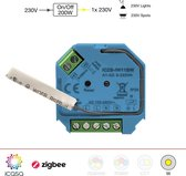 icasa Zigbee 3.0 On/Off Switch | 230V-200/400W | 3 Draads (Heeft nuldraad nodig) | Compatible met Zigbee 3.0 Gateway (Zoals Homey, Hue®*, IKEA Home smart®, Echo Plus®)