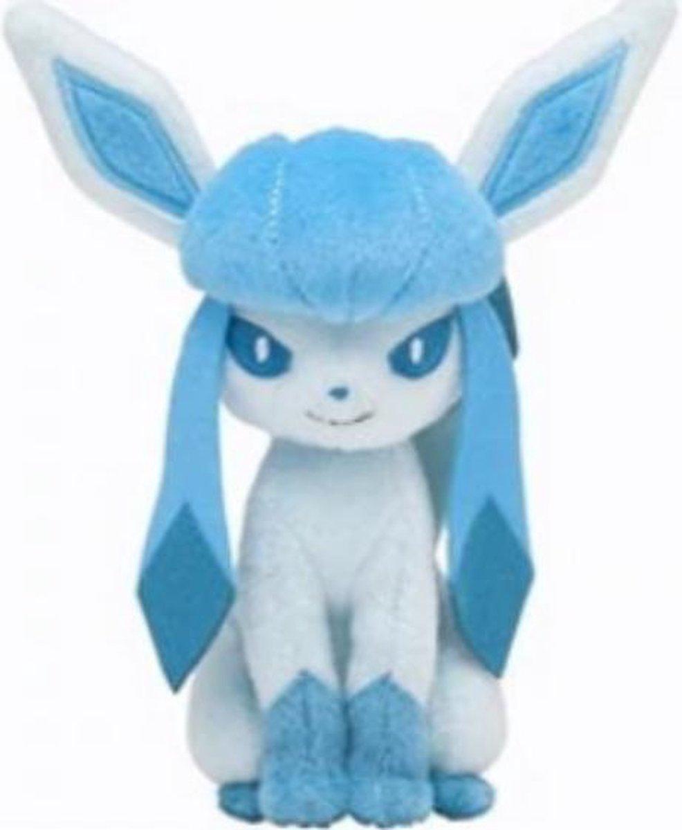 Knuffel Pokemon Glaceon - 23cm hoog - bekend van de TV - creator - Pokémon - pokéball - speelgoed - Plushe