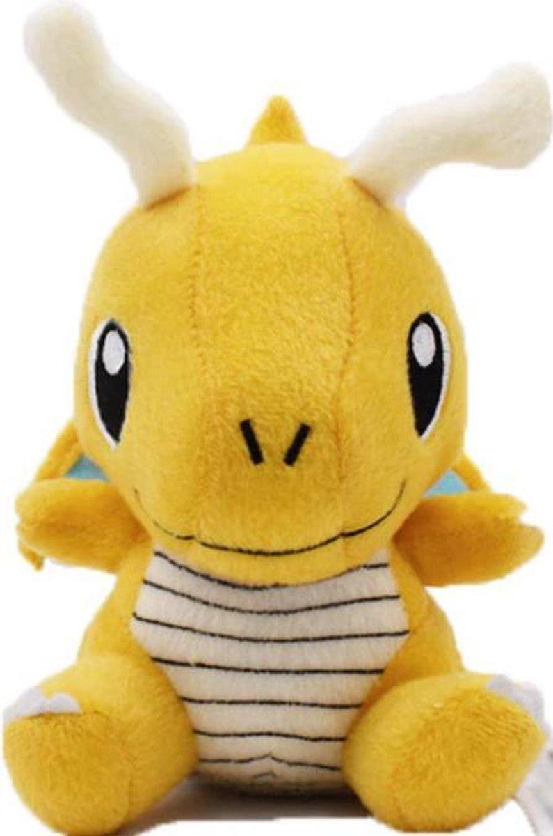 Knuffel Pokemon Dragonite - 17cm hoog - bekend van de TV - creator - Pokémon - pokéball - speelgoed - Plushe