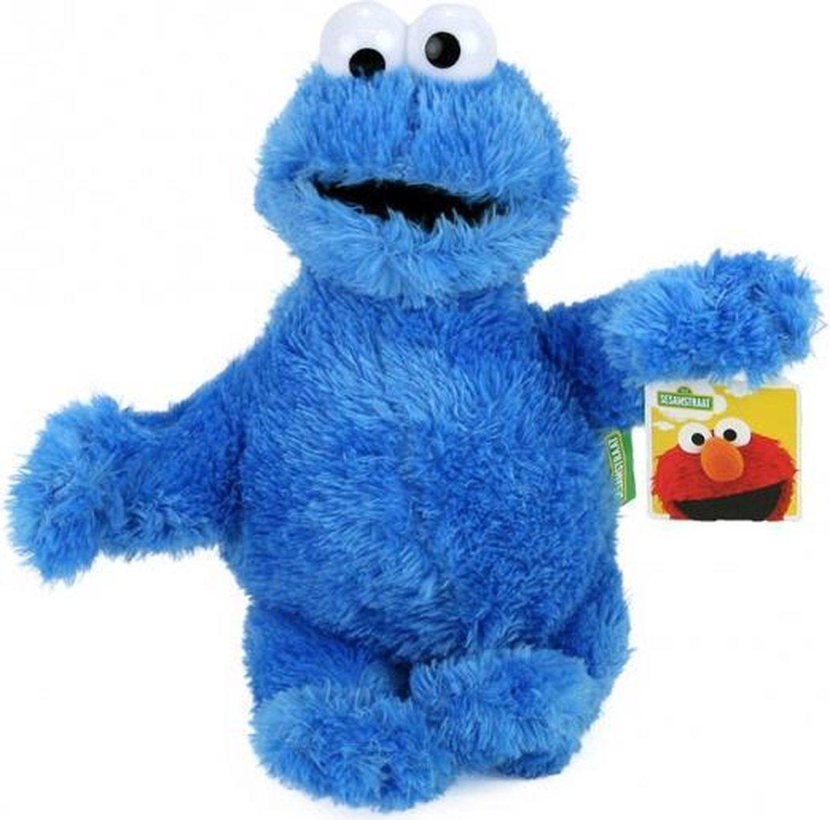 Cookie Monster Sesamstraat pluche knuffel 30cm - Original -  Sesamestreet friends Koekiemonster - Cookiemonster - Elmo - Pino - Bert - Ernie - Oscar - Kermit - ieniemienie -  Tommie Plush