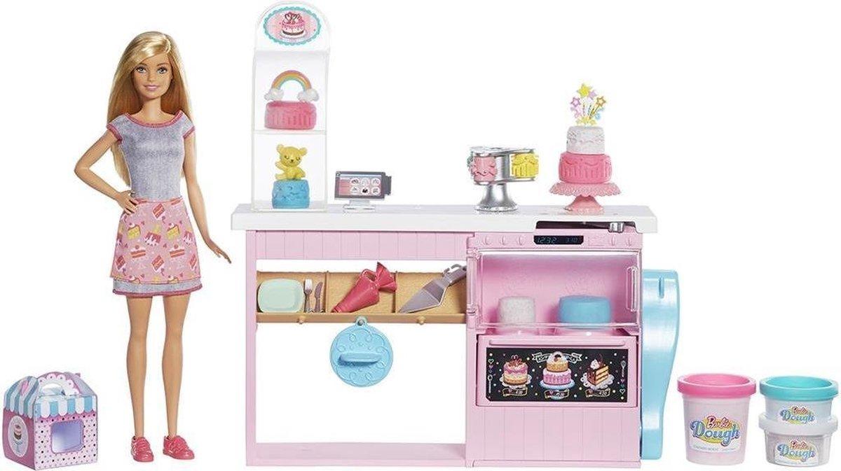 Barbie Bakker met Taartdecoratie Speelset - Barbiepop