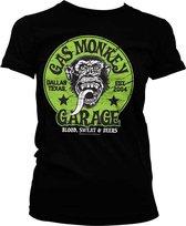 GAS MONKEY - T-Shirt Green Logo GIRL (XXL)