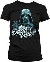 STAR WARS - T-Shirt Cool Vader - GIRLY - Black (M)