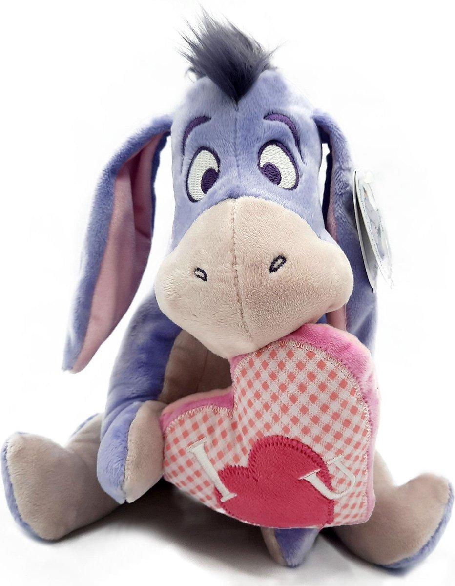 Disney Winnie de Poeh - Iejoor knuffel pluche - I love you hart - 25 cm
