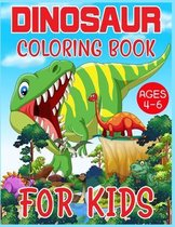 Dinosaur Coloring Book For Kids Ages 4-6
