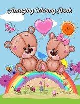 Amazing Coloring Book: Cute Animals