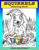 Squirrels Coloring Book
