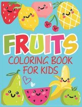 Fruits Coloring Book For Kids