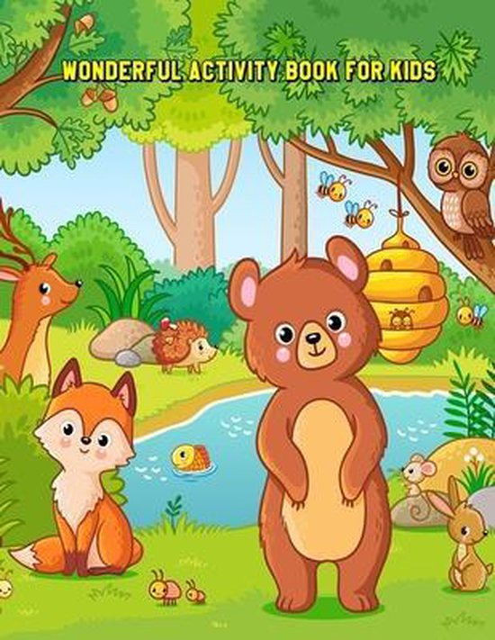 Wonderful Activity Book for Kids: Children's Workbook Activity Games for Learning