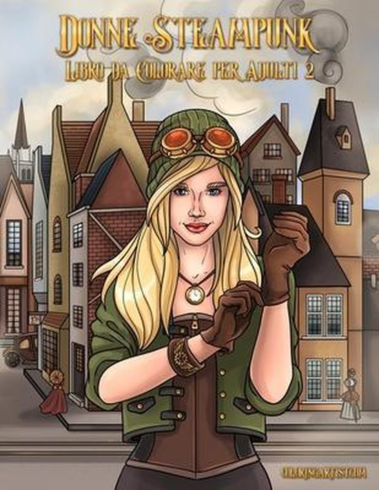 Donne Steampunk Libro da Colorare per Adulti 2