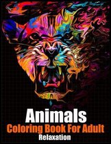 Animals Coloring Book for Adults Relaxation