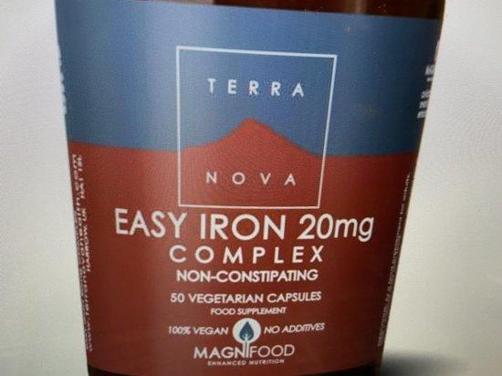 Terranova Easy iron 20 mg complex Inhoud: 50 vcaps