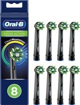 Oral-B CrossAction - Opzetborstels- Met CleanMaximiser-technologie - Zwart - 8 Stuks