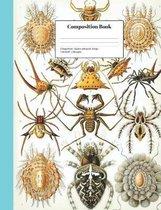 College-Ruled Spiders Arthropods Design: School Classroom Notebook