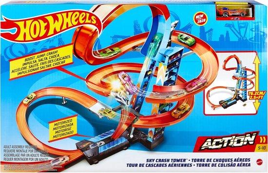 Hot Wheels Action Wolkenkrabber Crash - Speelset