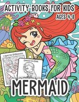 Mermaid Activity Books for Kids Ages 4-8
