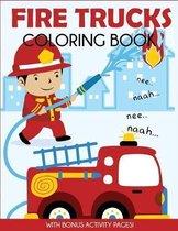 Fire Trucks Coloring Book
