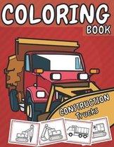 Construction Trucks Coloring Book