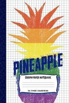 Pineapple Graph Paper Notebook: For Science And Math Students - 5 Squares Per Inch - Quad Ruled