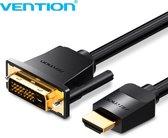 Vention HDMI naar DVI Kabel - DVI naar HDMI (Bi-directioneel) - Full-HD 1080P - 1 Meter
