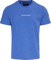 Blue Black Amsterdam TIES Kobalt Blauw Ronde Hals Heren T-shirt Maat S
