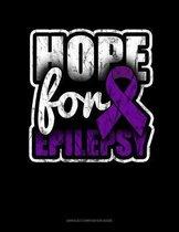 Hope For Epilepsy: Unruled Composition Book