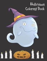 Halloween Coloring Book: Cute Halloween Book for Kids, 3-5 yr olds