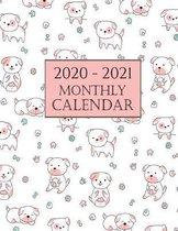 2020 - 2021 Monthly Calendar: Cute Dog 2020 Dog Wall Calendar