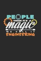 People think it's magic engineering: 6x9 Engineers - grid - squared paper - notebook - notes