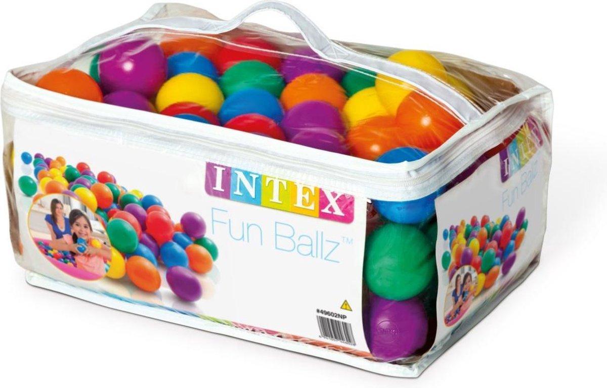 100 Intex ballen - Ballenbak ballen - ø 6,5 cm - Incl. Draagtas