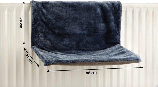 Hangmat Sleepy voor aan een radiator - Kat - Blauw - Beeztees