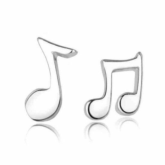 Oorbellen dames | oorstekers dames | zilveren oorbellen | oorbellen muzieknoot | muziekliefhebber | meisjes oorbellen | cadeau voor vrouw