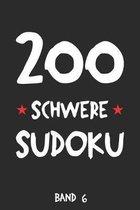 200 Schwere Sudoku Band 6: Puzzle R�tsel Heft, 9x9, 2 R�tsel pro Seite