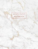 Graph Paper Notebook: Gold Grey Marble - 8.5 x 11 - 5 x 5 Squares per inch - 100 Quad Ruled Pages - Cute Graph Paper Composition Notebook fo