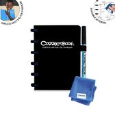 Whiteboard notitieblok / schrift - Correctbook -  A6 - Gelijnd - Zwart