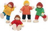 Goki Houten buigpopjes set kinderen 6cm