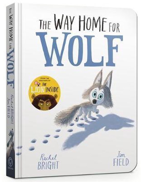 Boek cover The Way Home for Wolf Board Book van Rachel Bright (Hardcover)