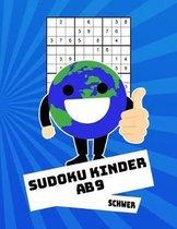 Sudoku Kinder Ab 9 Schwer: 100 R�tsel - R�tselblock Mit L�sungen 9x9 - Grundschule