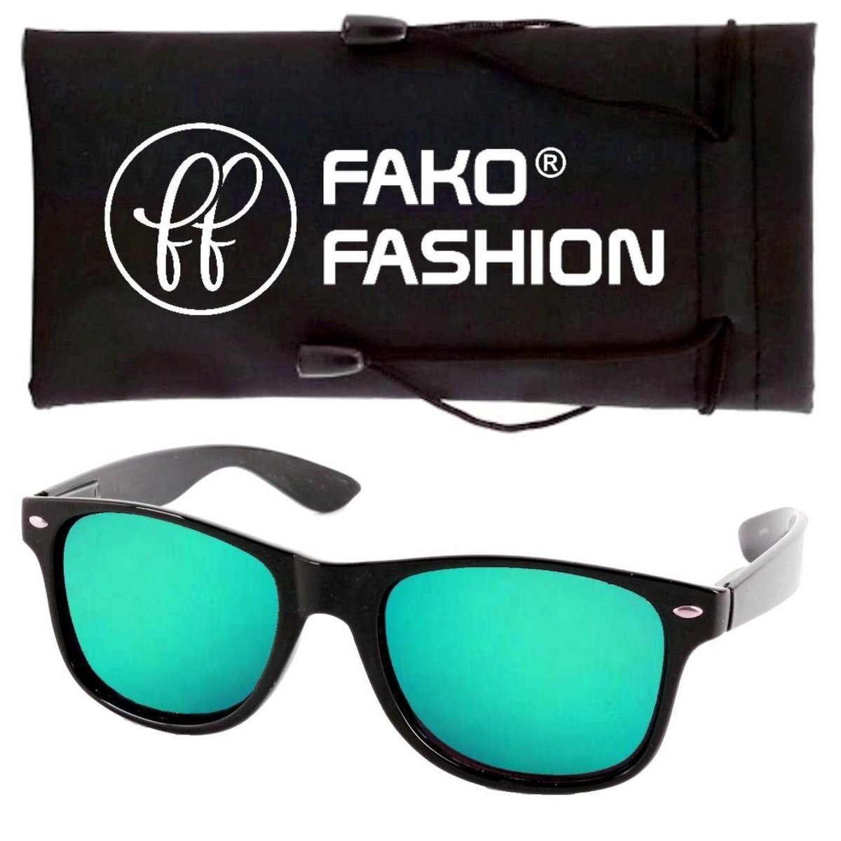 Fako Fashion® - Kinder Zonnebril - Wayfarer - Spiegel Aqua - Fako Fashion®