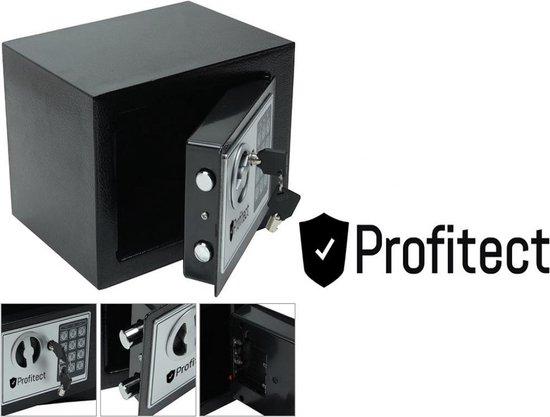 Kluisje met cijferslot, kluis elektronisch, digitale kluis met sleutelslot, hotelkluisje, geldkistje met cijferslot merk Profitect