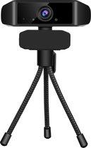 Webcam - FULL HD - 1080P - Webcam met standaard - Tripod webcam -  Computer - PC - Microfoon - Videobellen - Vergaderen -  Werk - Livestreamen - Windows - USB - HD - webcam met microfoon - zwart