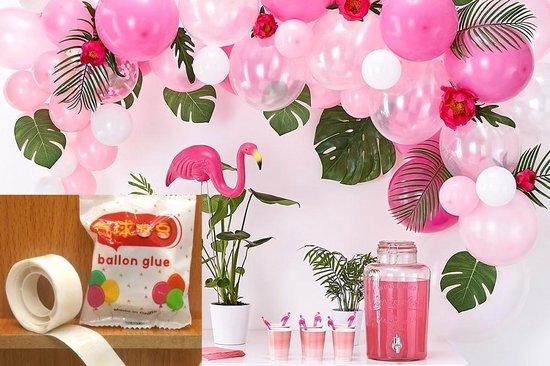 1+1 gratis 100 Ballon Stickers op een rol, dus makkelijker dan op een vel! - Ballon plakkers - Ballon stickers plafond - Ballon lijm - Ballon Plafond - Ballon Stickers - Ballonnen
