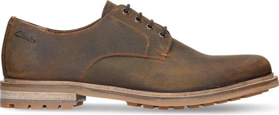 Clarks - Herenschoenen - Foxwell Hall - G - beeswax leather - maat 8,5