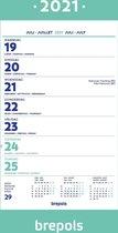 Brepols Kalender 2021 • Wand-week kalender • 19 x 31 cm