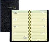 Brepols Agenda 2021 • Interplan NL • GENOVA PVC cover • uitneembaar ABC • 9 x 16 cm • spiraal • zwart