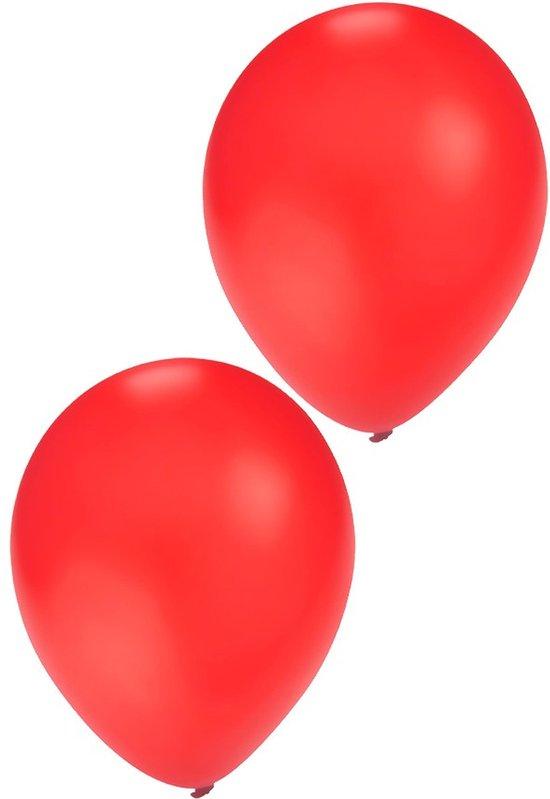 Rode ballonnen 10 stuks   Ballonnen rood voor lucht en helium