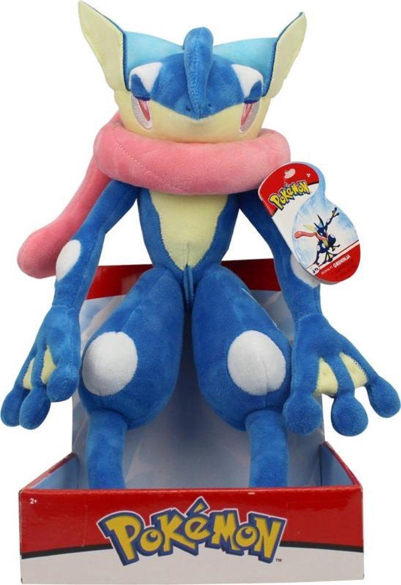 Pokémon Pluche - Greninja Knuffel 32 cm - Pokemon Friends Gre Ninja - Riolu - Lucario